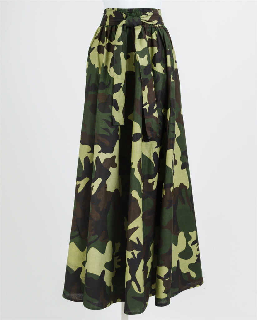 Camouflage Print MAXI Skirt- 42 Inches Long
