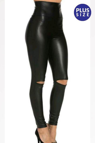 Plus Size Leggings -Black