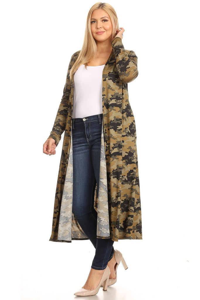 Green Camouflage  Duster