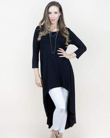 BlackSplit Kaftan Maxi Dress
