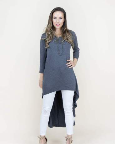 Charcoal  Split Kaftan Maxi Dress