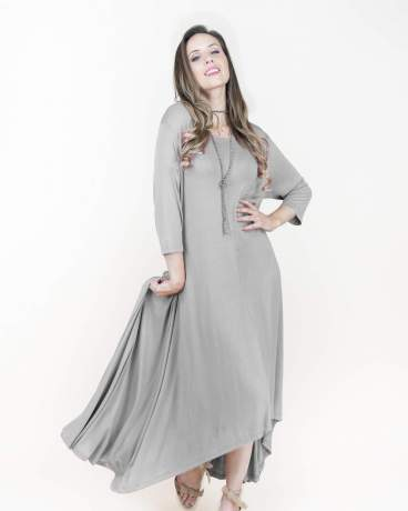 Gray Free Falling Tunic w pockets