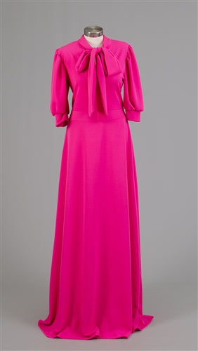 Fuchsia Maxi Dress with Bowtie