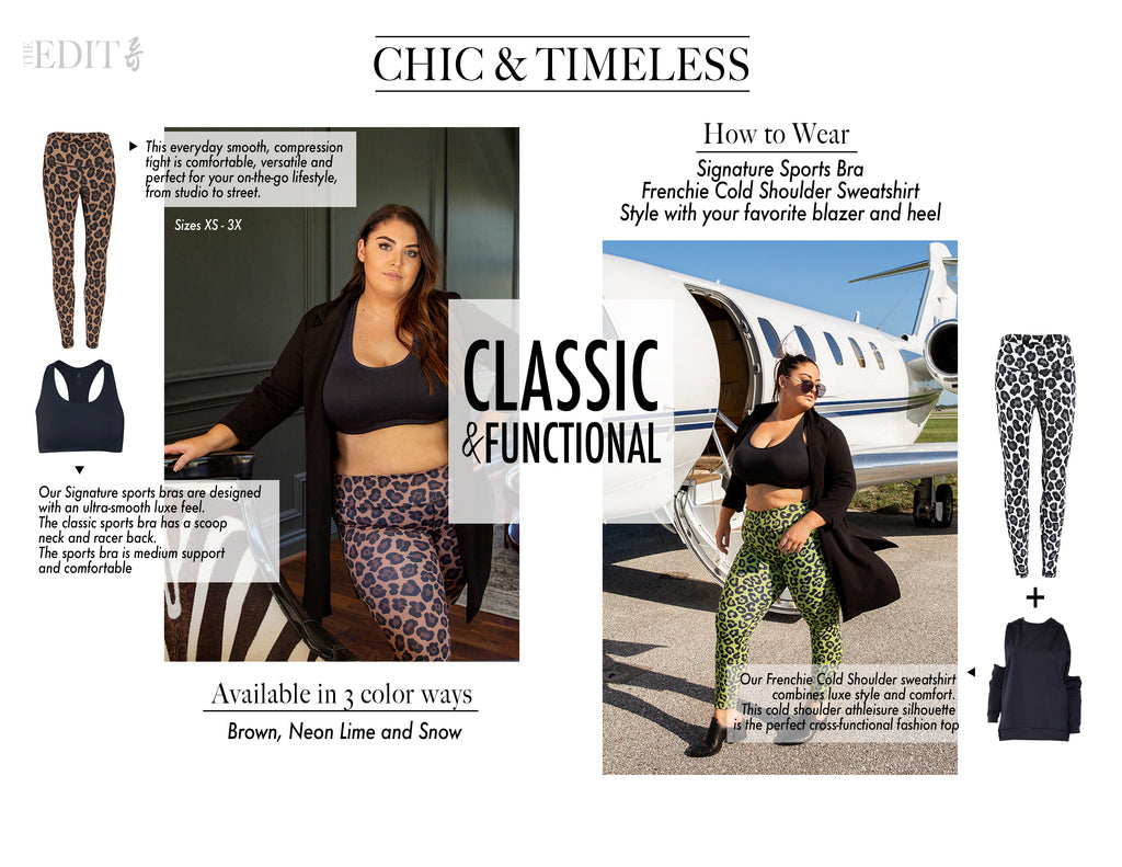 Chic & Timeless looks by Yummy & Trendy. Luxe leopard leggings are classic & functional. Available in 3 color ways in sizes XS-3X.