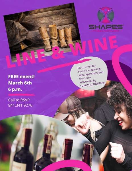 line & wine Shapes fitness