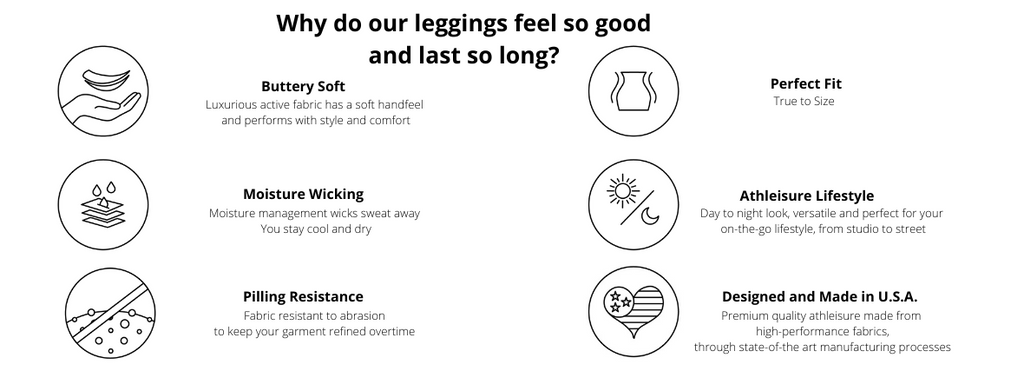 Yummy & Trendy® technical features. Shop the best american leggings available.