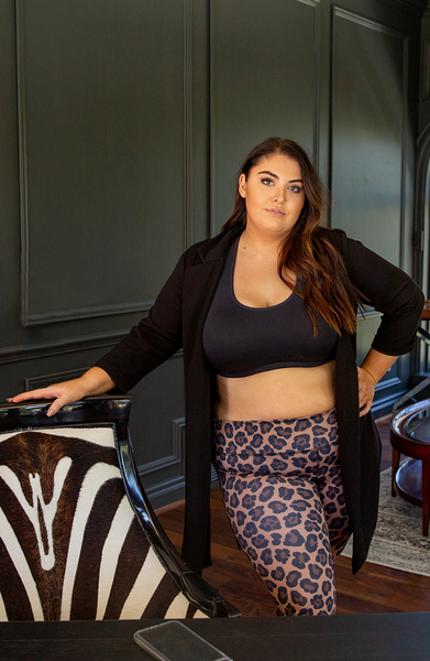 Shop the best leggings available and made in the U.S.A. by YUMMY & TRENDY®  Luxe Leopard leggings available in brown, neon lime and snow in sizes XS-3X