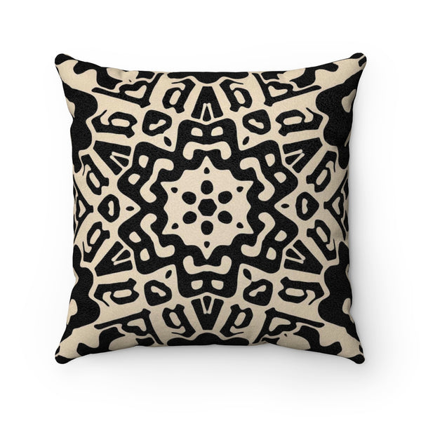 The Kaleidoscope B&W Square Pillow