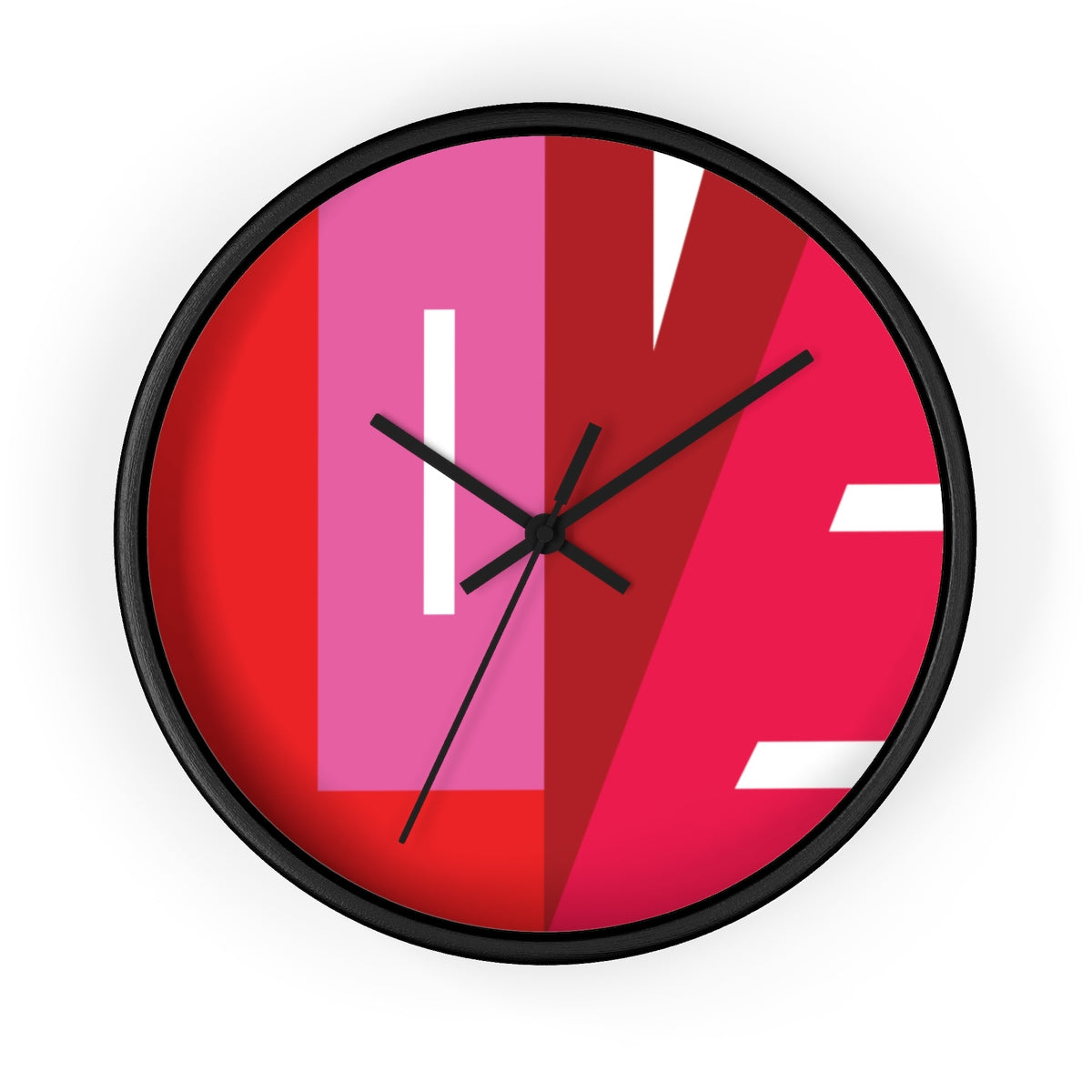 """CIRCLE OF LOVE"" RED BERRY WALL CLOCK"