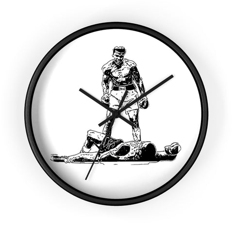 """THE GREATEST"" B&W WALL CLOCK"