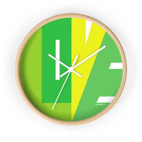 """CIRCLE OF LOVE"" GREEN MINT WALL CLOCK"