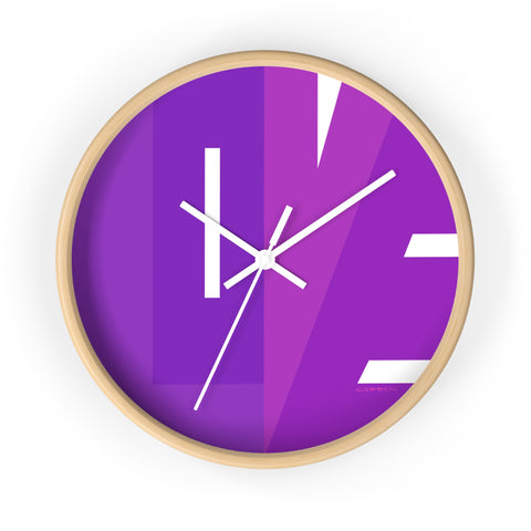 """CIRCLE OF LOVE"" PURPLE WALL CLOCK"