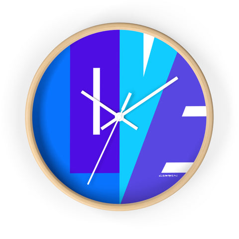 """CIRCLE OF LOVE"" BLUE WALL CLOCK"