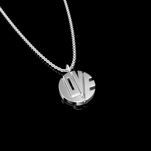 "THE TINY PILL ""PENDANT OF LOVE"" IN 14K WHITE GOLD"
