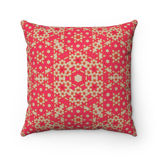 The Kaleidoscope Pink Pillow