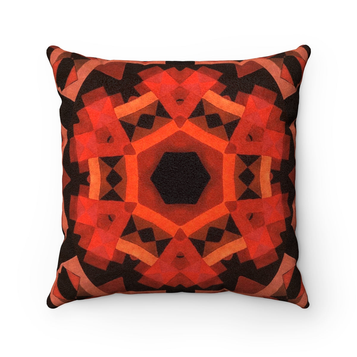 Kaleidoscope Design Suede Pillow
