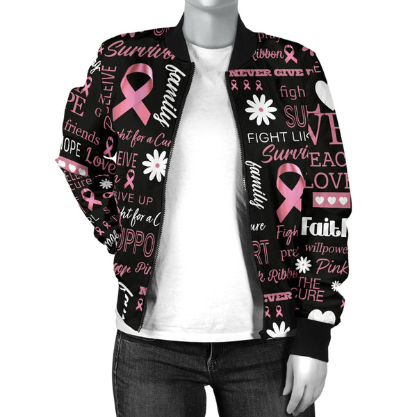 Breast Cancer Awareness Bomber Jacket