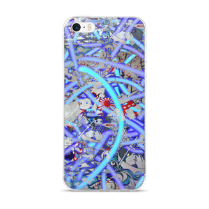 Blue Neon Pop Art iPhone cases 5/5s/Se, 6/6s, 6/6s Plus Case