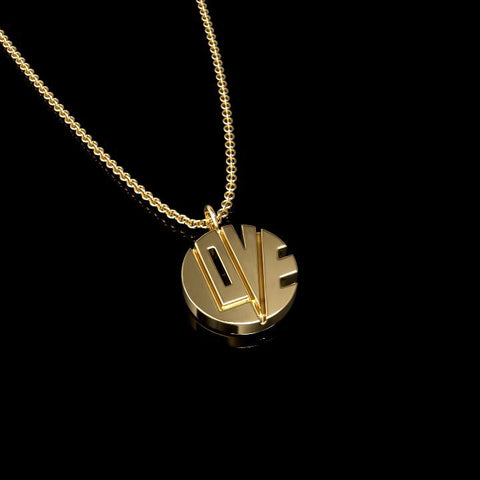 "THE TINY PILL ""PENDANT OF LOVE"" IN 14K YELLOW GOLD"