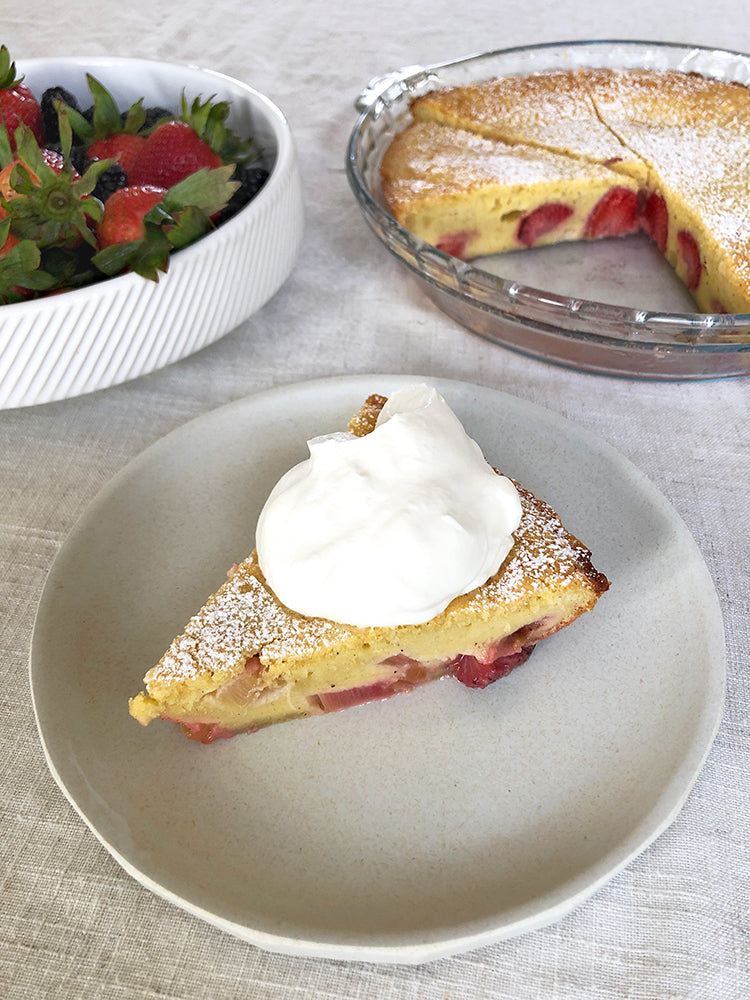 Strawberry and Rhubarb Clafoutis