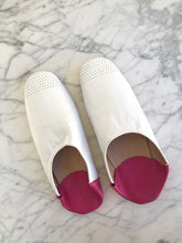 Bright White & Souk Pink Indoor Slippers (Imperfect)