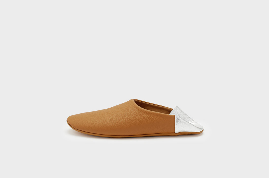 Caramel & Silver Indoor Slippers