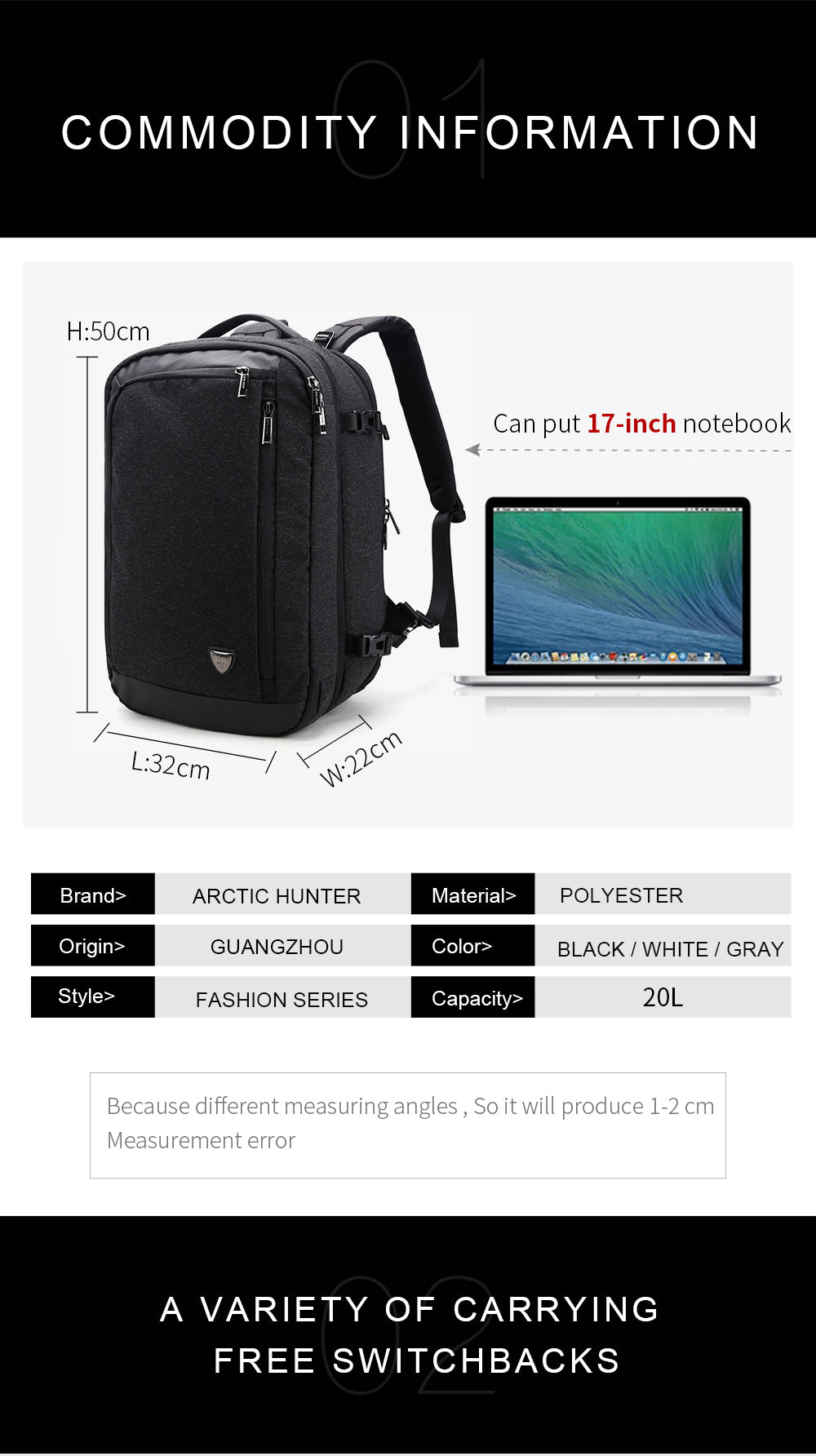 CF365 Airport HUNTER Travel Backpack