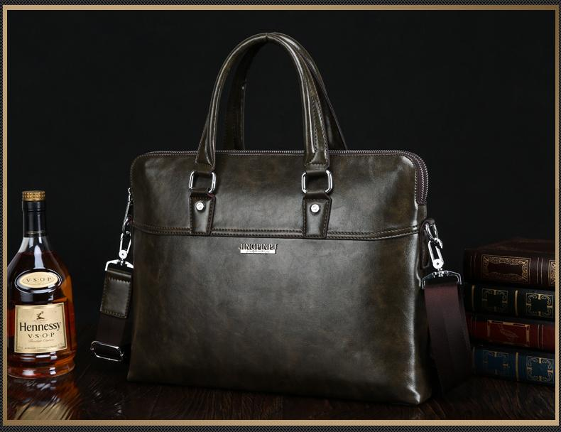London Gate Leather Briefcase