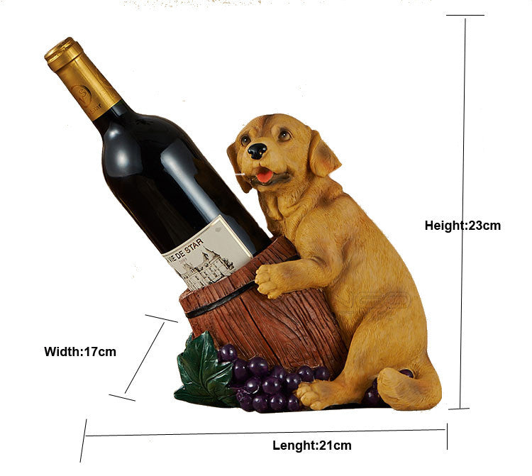 Puppy Wine Bottle Holder Home Decor