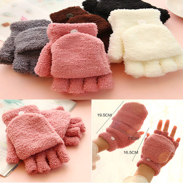 1 pair Lovely Warmer Winter neccessity  Fingerless Gloves Women's Ladies Hand Wrist New clothing accessories
