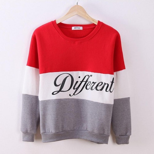 'Different' Printed Pullover Sweatshirt