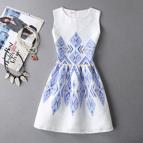 FITAYLOR Woman's Printed Preppy Dress