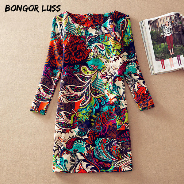 BONGOR LUSS Woman's Fashion Print Dress