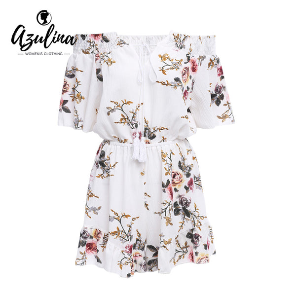 2017 AZULINA Woman's Off-Shoulder Floral Print Romper
