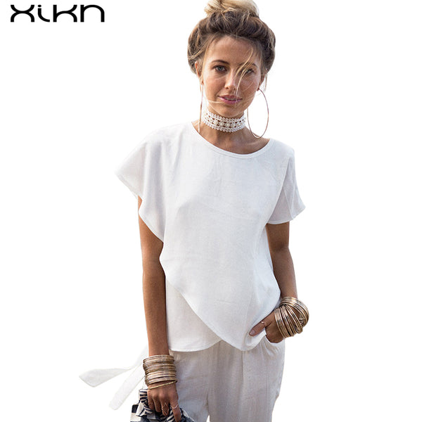 Summer 2017 XIKN Woman's Ruffled Chiffon Blouse