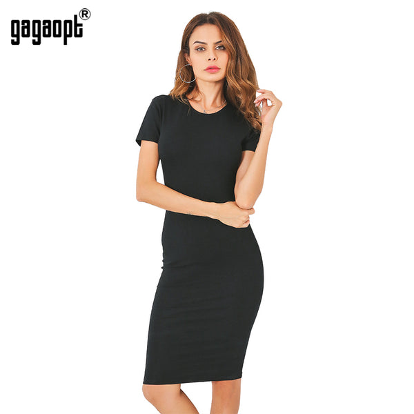 GAGAOPT Knee-Length Bodycon Dress