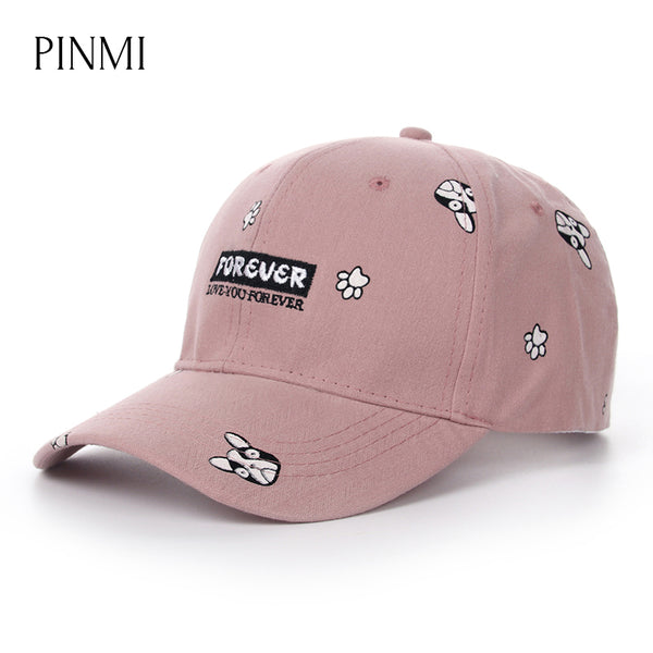 PINMI Pink Dog Pattern Baseball Cap