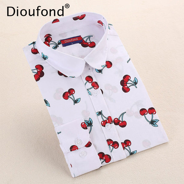 DIOUFOND Woman's Multi-Print Long Sleeve Shirts