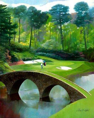 "12th @ Augusta National Golf Course 24"" x 30"""