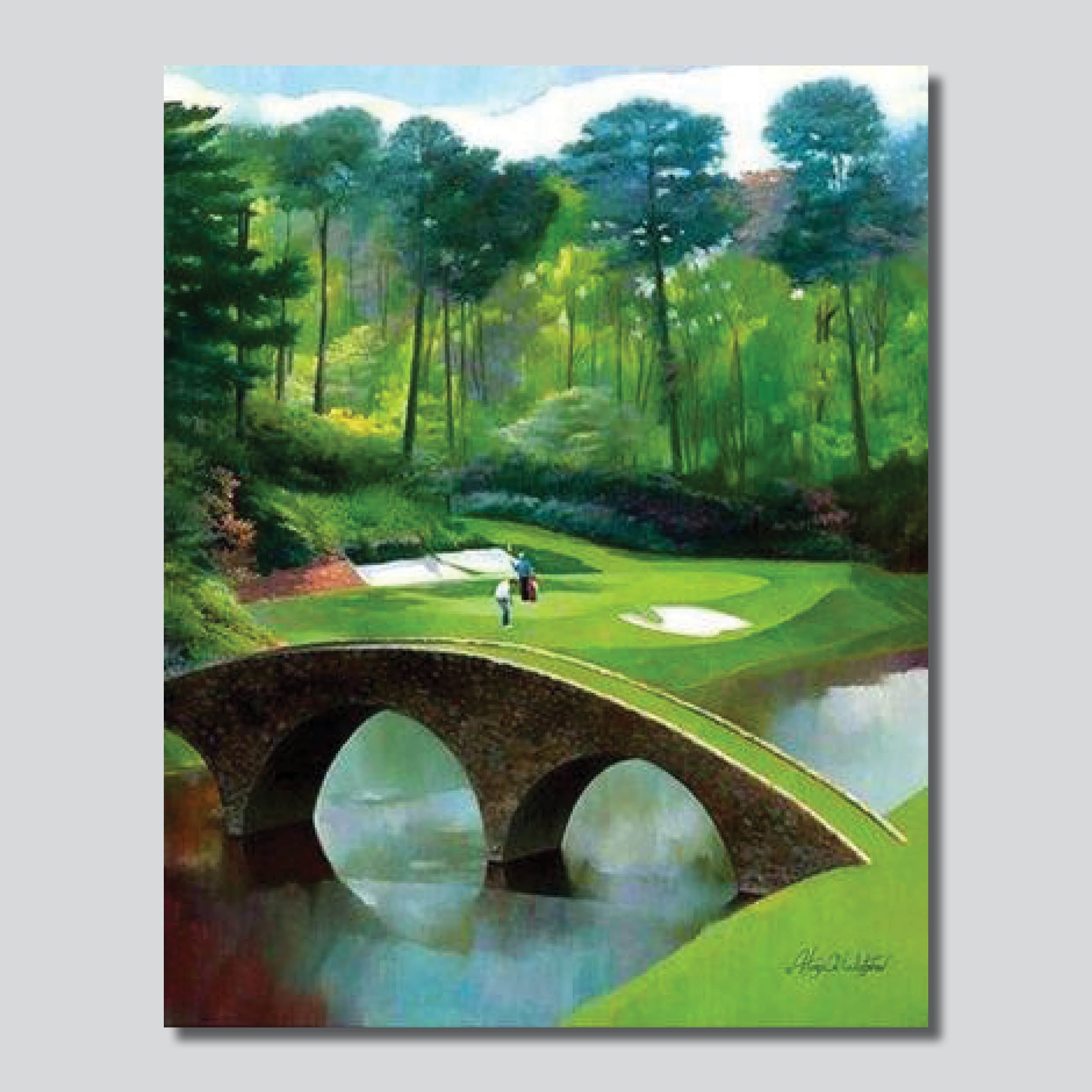 "12th @ Augusta National Golf Course 24"" x 30"" Giclee Printed On Canvas"
