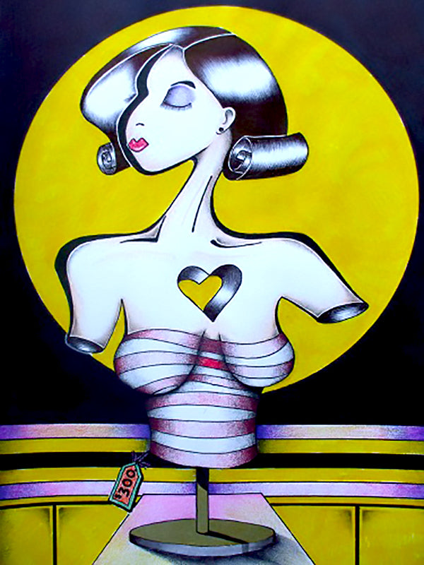 "Le Mannequin 8.5"" x 11"" Giclee Printed On High Gloss Metal"
