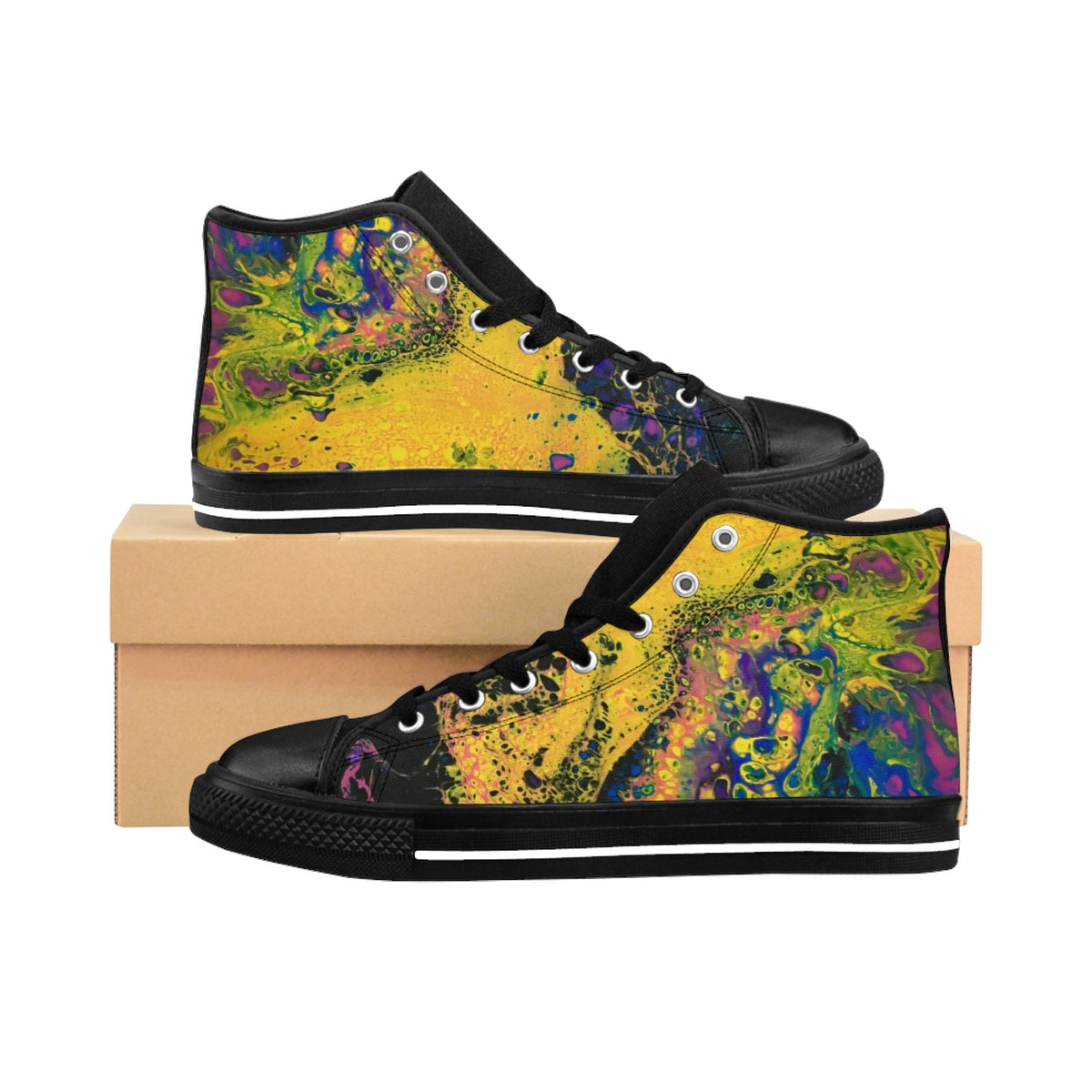 Solar Flare Women's High-Top Sneakers