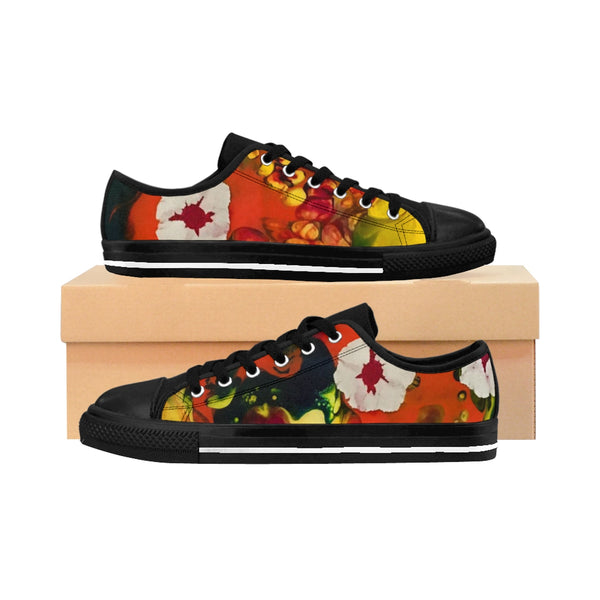 Floating Budding Blooms Women's Sneakers