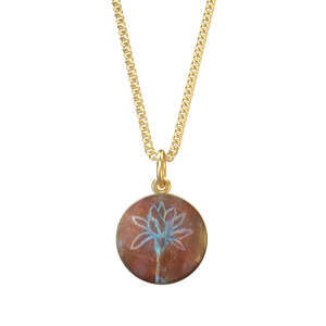 Lotus Uplifted I Charm With Necklace