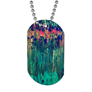Happy Blooms Dog Tag w/chain