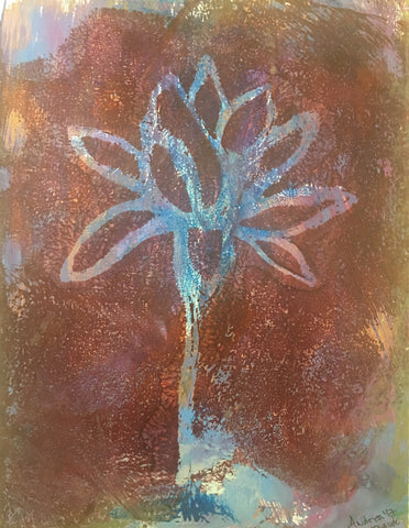 """Original Art"" Lotus Uplifted I/9"" x 12"""