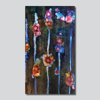 """Original Art"" Blooming Beauties 14"" x 24"" Mixed Media On Board"