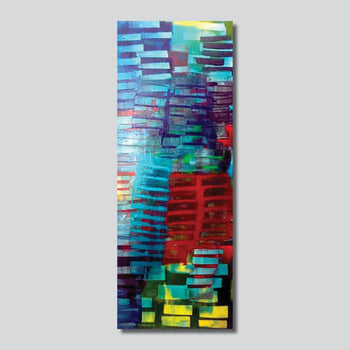 """Original Art"" City Underwater 16"" x 40"" Acrylic On Canvas"