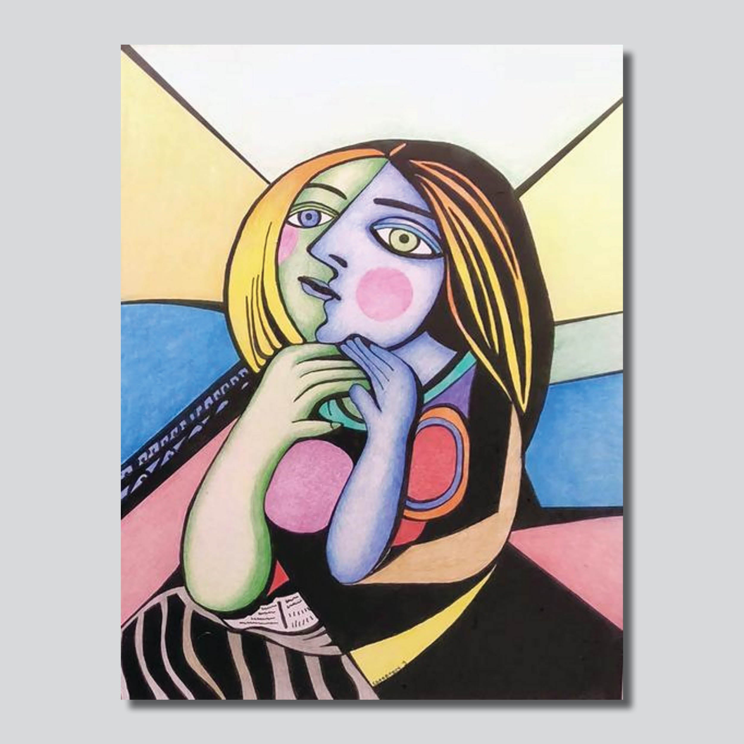 "Picasso's Girl  8"" x 10""/ ""11"" x 14"" Giclee Printed On High Gloss Metal"
