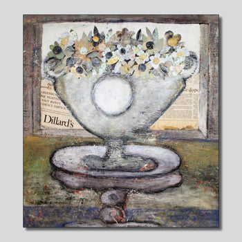 """Original Art"" Dillards Vase/24"" x 30 Mixed Media On Canvas"